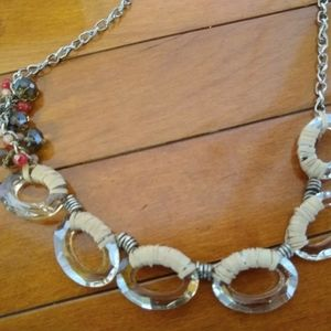 LOFT Jewelry - LOFT long Adjustable Faceted Bead Necklace w/box